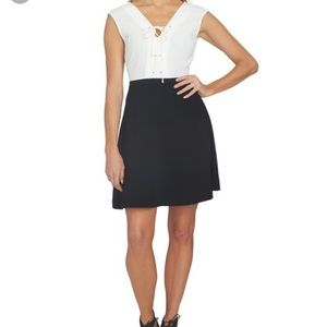 1.State fit and flare dress